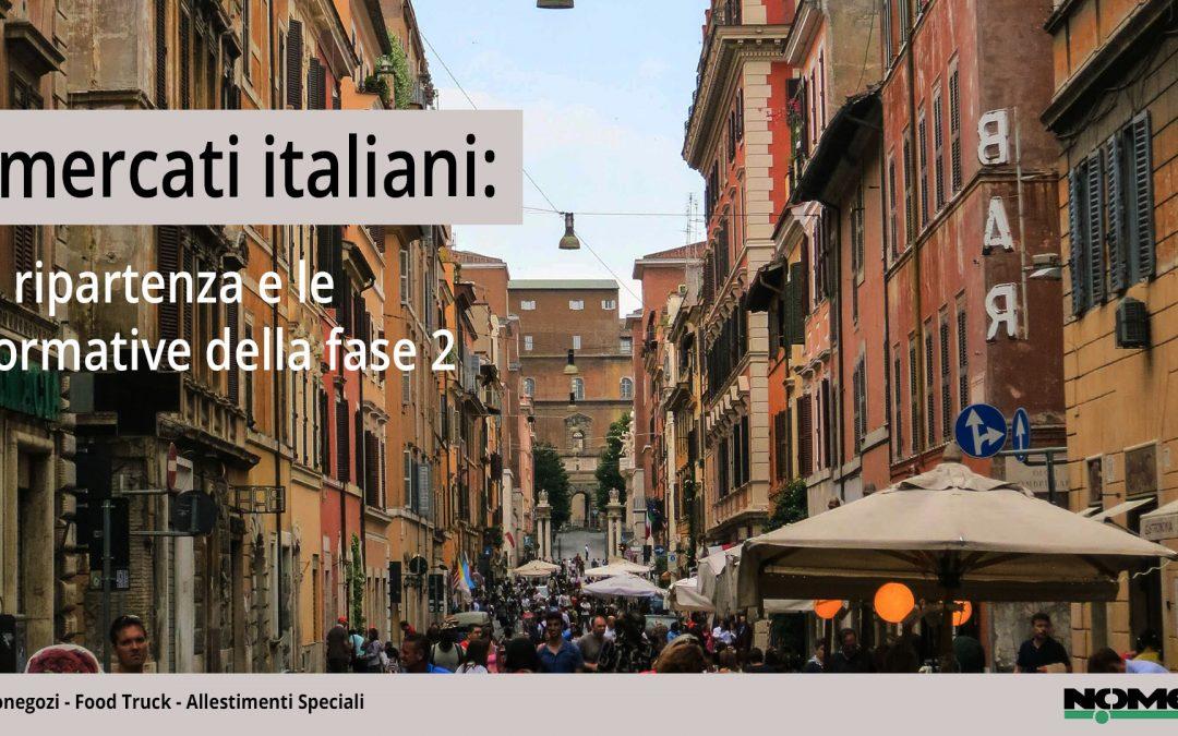 I mercati italiani: la ripartenza e le normative della fase 2