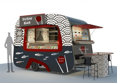 Food truck girella sushi bar - Nomec - 1