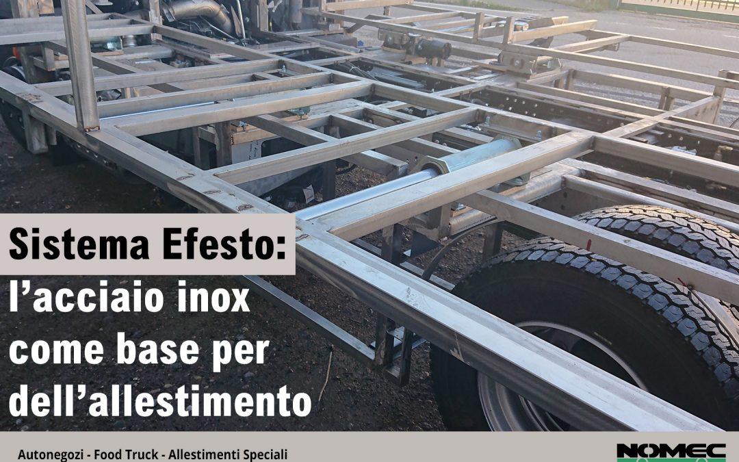 Sistema Efesto: l'acciaio inox come base dell'allestimento